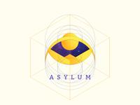 Asylum Logo logo vector mark illustration space gradient galactic denis nistratov
