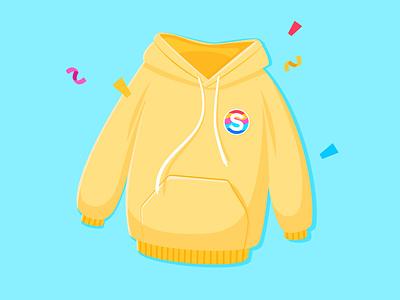 Sweatshirt Sticker illustration design