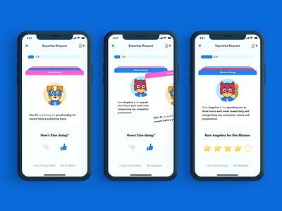 Giving feedback has never been easier... or more fun! illustration app ux ui design
