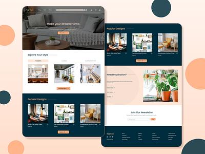 Website Design Concept interface shop usability furniture website app portfolio clean minimal illustration design concept landing page website web app ecommerce web design branding ui ux