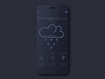 Weather App weather app iphone cloud icon rain ux ui