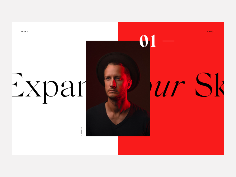 Case Studies Page web ux ui minimal red serif fashion animation case studies portfolio