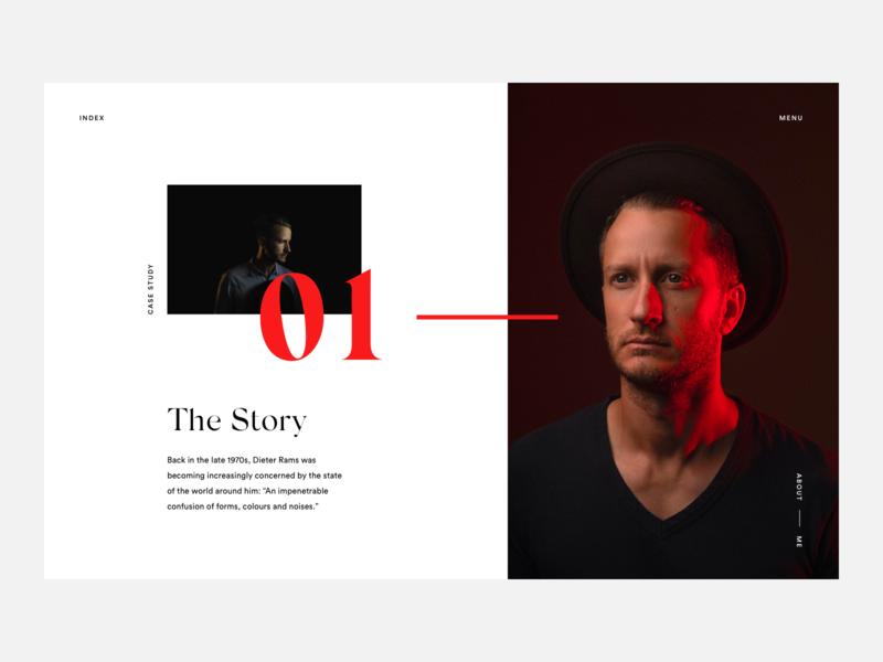 Case Study Page layout simple typography serif luxury fashion web minimal ux ui