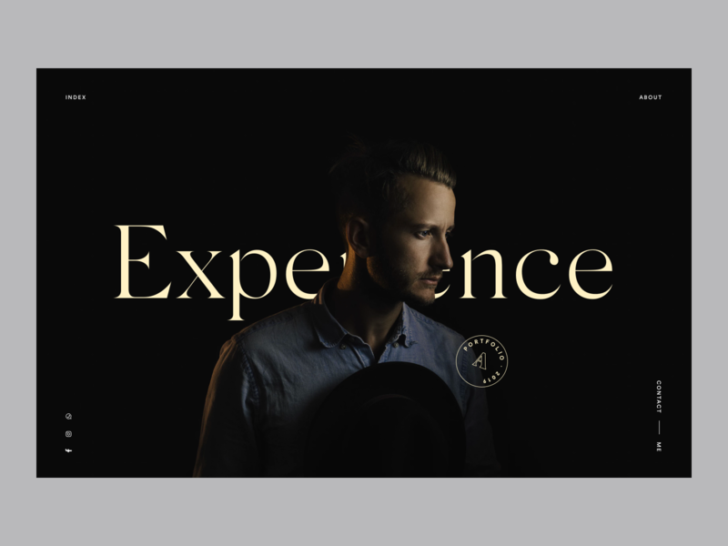 Intro Page intro about me uidesigner uitrends black webdesign portfolio serif typography web ux ui