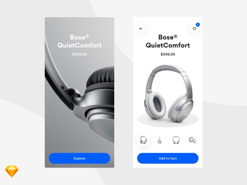 E-commerce UI Concept mobile app type product ios ux ui