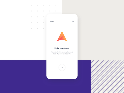 Investment App Concept animation typography app design purple colors ux ui app