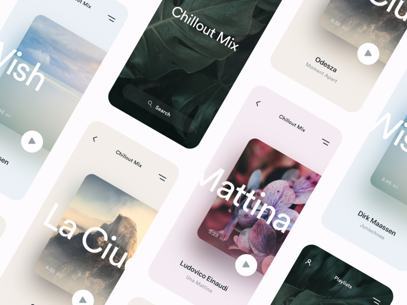 Music Player ux ui minimal semiflat app design mobile player music