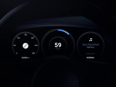 Porsche Taycan Dashboard motion electro car dashboard car energy blue automotive auto art animation