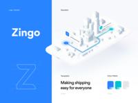 Zingo Styleguide isometric illustration ux ui tool shipping mockup marketing logo guidelines graphics design branding brandbook