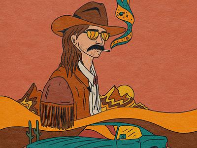 Highwayman design tattoo art tattoo psychedelic album cover retro album art illustration