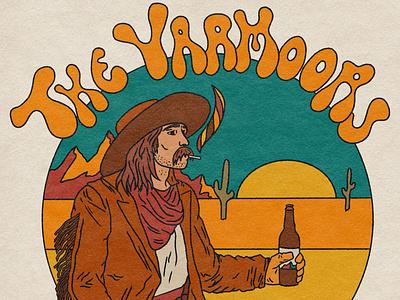 Wayward Cowboy - Merch Design merch design art illustrator procreate merchandise album cover psychedelic illustration design