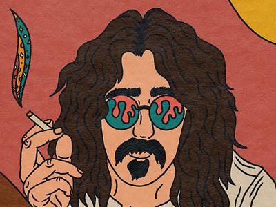 Zappa album art tattoo 70s frankazappa procreate illustrator retro psychedelic illustration design