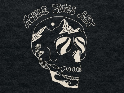 Print Logo brand design branding skull art art procreate design tattoo retro psychedelic illustration logo