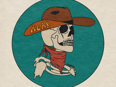 ACAB Cowboy digital art procreate acab logo skull art tattoo retro psychedelic illustration design