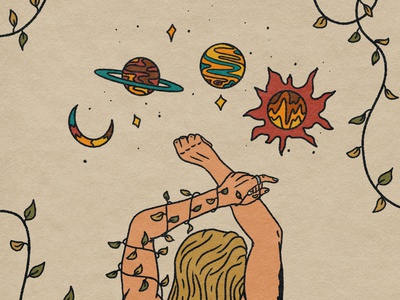 Winter Solstice album cover goddess solstice procreate album art tattoo psychedelic illustration design