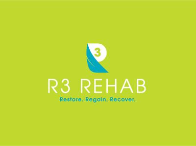 R3 Rehab healthcare leaf logo rehab