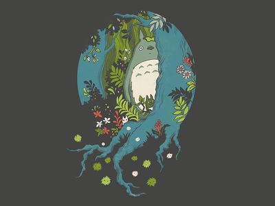 Forest Spirits trees ghibli my neighbor totoro forest