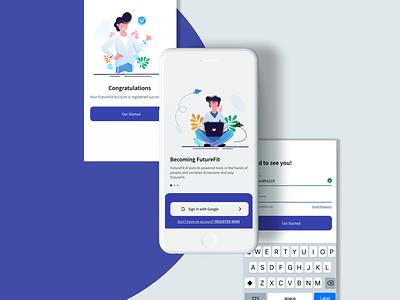 Career Pathway Apps mobile design registration login page app design mobile ui illustration ux ui