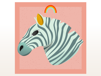 Blue Zebra vectorillustration flatillustration vectorart vector flat illustration digital illustration