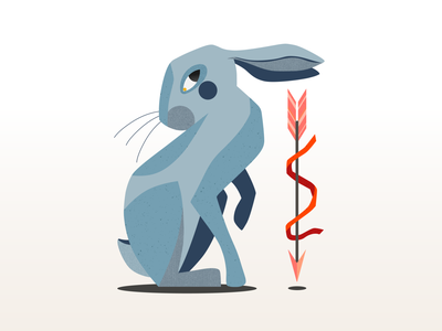 Hunters Hare animal adobe illustrator illustration art minimal clean flat vector