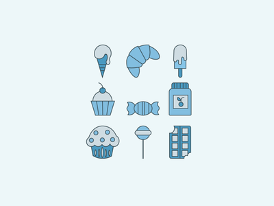 Sweets graphic design vector illustration design art sweets sweet icons icon