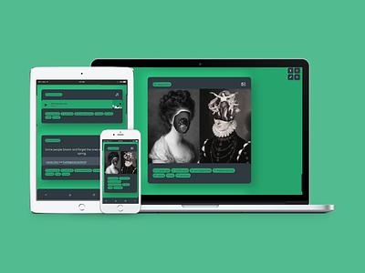 Fiktion (Theme 28) tumblr theme daily ui tumblr dailyui uiux webdesign