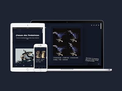 Grauen (Theme 31) neumorphic accessible design tumblr theme daily ui tumblr dailyui uiux webdesign
