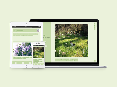 Homaranismo (Theme 10 Revamp) responsive responsive design accessible design tumblr theme daily ui tumblr dailyui uiux webdesign