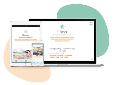 Moody (Theme 32) responsive design responsive accessible tumblr theme design daily ui tumblr dailyui uiux webdesign