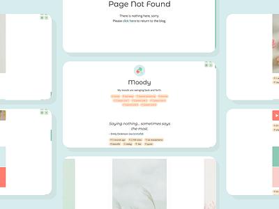 Moody (Theme 32) responsive design responsive tumblr theme design daily ui tumblr dailyui uiux webdesign