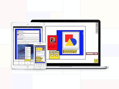 Mondrian (Theme 4) mondrian bauhaus tumblr theme design daily ui tumblr dailyui uiux webdesign