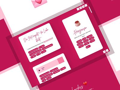 Herzrasen (Theme 34) accessible tumblr theme webdesigns web design responsive design daily ui tumblr uiux dailyui webdesign