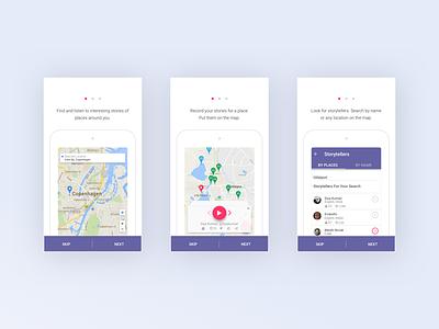xtory App story onboarding social