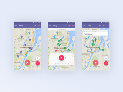 xtory App story cluster directions play maps social