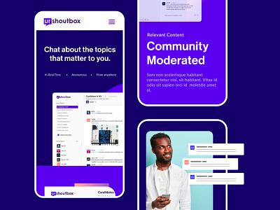 Urshoutbox Mobile Web website mobile ui