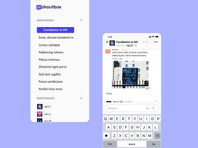 Urshout Box Mobile App userinterface user experience mobile app