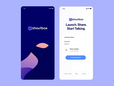 UrShoutbox - Mobile application user experience user interface mobile app