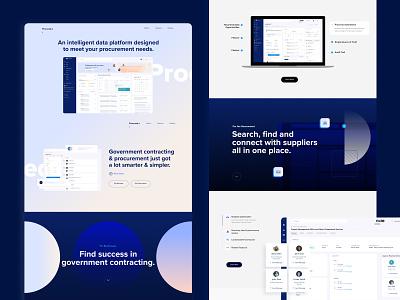 Procurement Management Platform Website website user experience user interface procurement