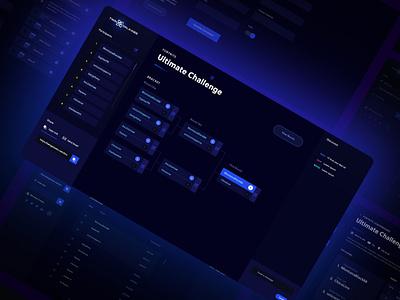 Tournament Bracket Web App rounds participants ui ux edgy dark ui userinterface user experience gaming bracket tournament webapp