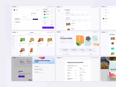 Commissary E-Commerce Solution ui ux uxui highfidelity user experience userinterface product category pdp billing commissary checkout shop ecommerce