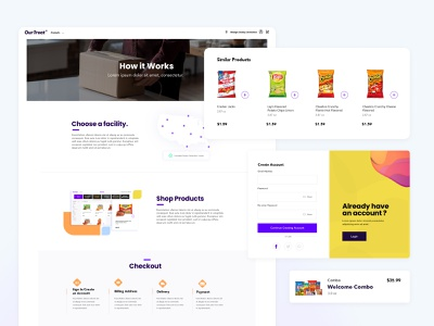 Commissary E-Commerce Solution commissary design ui ux webapp website product category similar products user interface user experience create account login shop ecommerce how it works