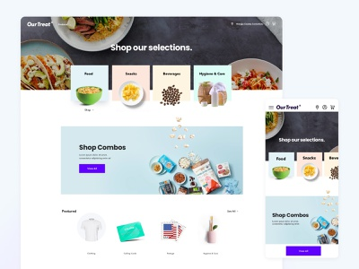 Commissary E-Commerce Solution mobile commissary website webapp ux ui user interface user experience shop ecommerce homepage