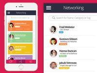 Design+Build Networking Screen