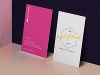 An Uplifted Day - Business Cards