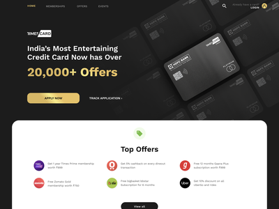 Times Card (WIP) times card product design ux design design fintech