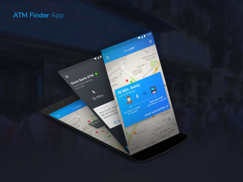 ATM Finder App demonetisation ux ui atm finder