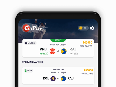 CricPlay - Introducing DARK MODE cricplay sports fantasy cricket cricket ux ui design dark mode