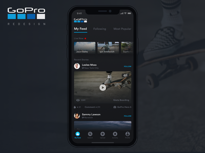 GoPro App Redesign (Case Study) design revamp user experience redesign