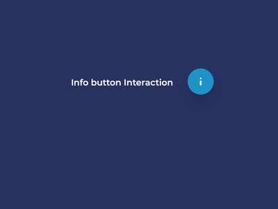 Info Button Interaction ux card animation info interaction design motion design ui design