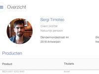 Profile Page iOS 7 app